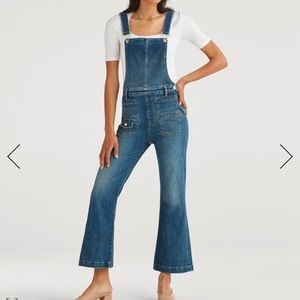 Cropped Georgia Overall in Empire Blue (WORN ONCE)
